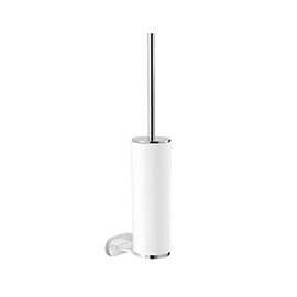 Wall mounted toilet brush with toilet