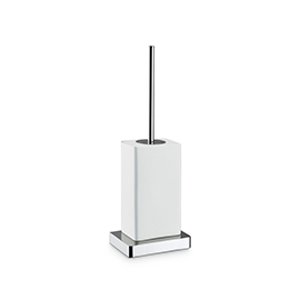 Free standing toilet brush holder with brush