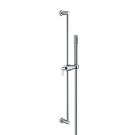 Complete shower set, with brass hand shower, LL. 150 cm flexible, without wall union.