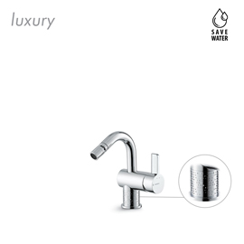 "Single lever bidet mixer with 1"" 1/4 pop-up waste set."
