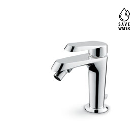 "Single lever bidet mixer with 1""1/4 pop-up waste set."