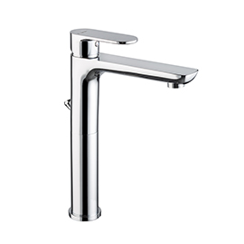 "Single-lever mixer, high version for above counter basin with 1""1/4 pop up waste set."