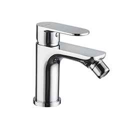 Single-lever bidet mixer without pop-up waste set