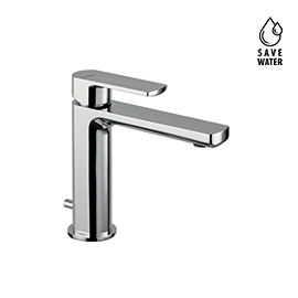 "Single lever basin mixer with 1""1/4 pop-up waste set."