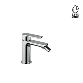Single lever bidet mixer without pop-up waste set