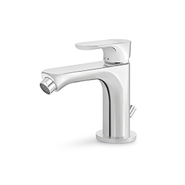 "Single-lever bidet mixer with 1""1/4 pop-up waste set"