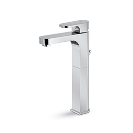 "Single-lever mixer, high version for above counter basin, with 1""1/4 pop up waste set"