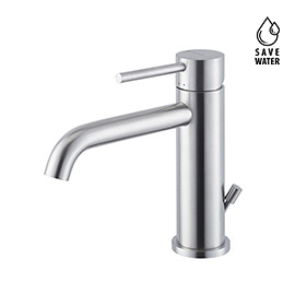 "Single lever basin mixer with 1""1/4 pop up waste set"