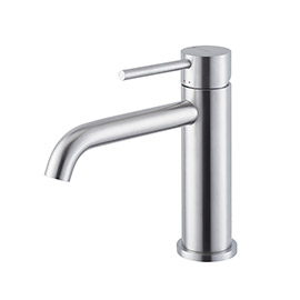 Single lever basin mixer without pop up waste set