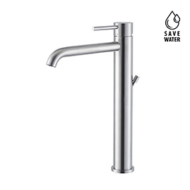 "Single lever mixer, high version for above counter basin, with 1""1/4 pop up waste set"