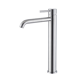 Single lever mixer, high version for above counter basin, without pop up waste set