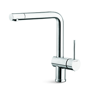 "Single-lever sink mixer with swivel spout and outlet, diam. 28 mm. 3/8"" female connection hoses"