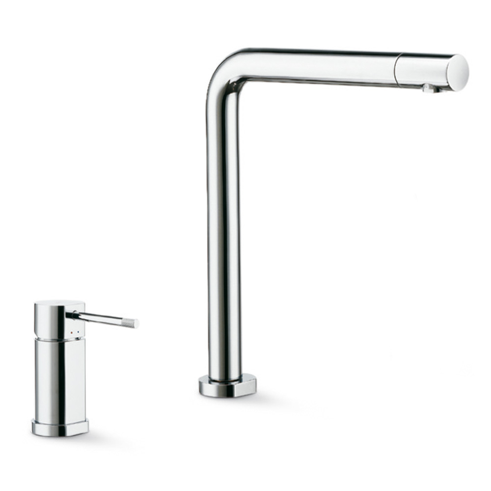 Complete set consisting of single-lever sink mixer and swivel spout with swivel outlet