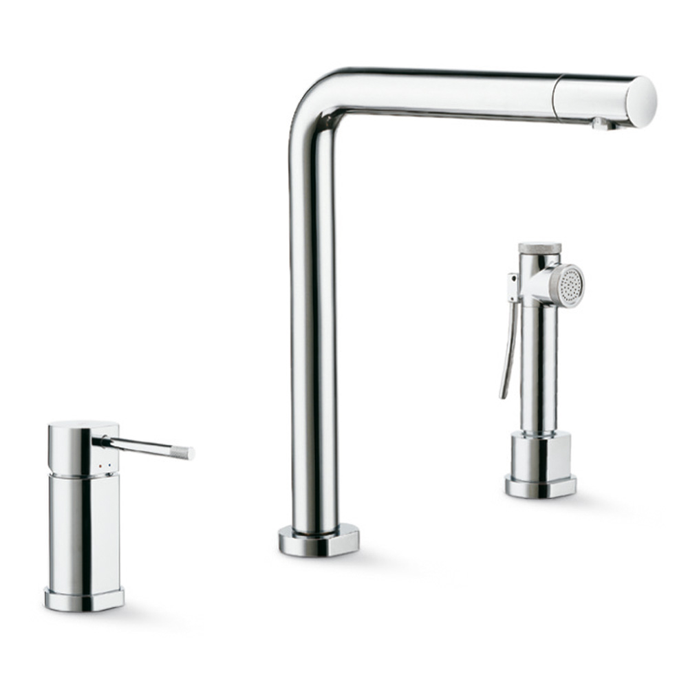 Complete set consisting of single-lever sink mixer