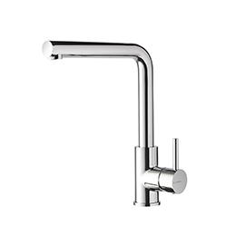 Single-lever sink mixer with swivel spout