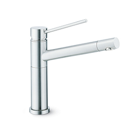 Stainless steel single-lever sink mixer
