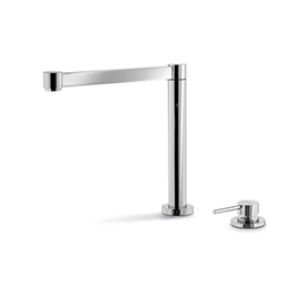 Single-lever sink group with pull down spout