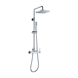 Brass round wall head shower with raining jet
