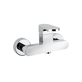 Single-lever exposed shower mixer