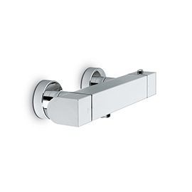 Exposed shower thermostatic mixer