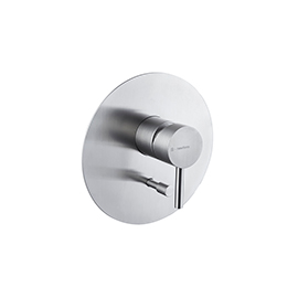 "Stainless steel single-jet hand shower. 1 / 2"" connections."