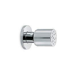 Brass single-jet cylindrical articuled side shower-head