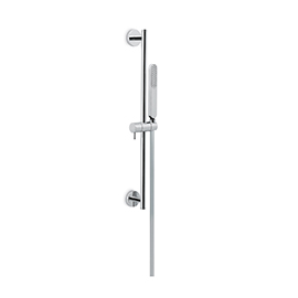 Complete shower set with ABS hand shower, LL 150 cm PVC flexible, without wall union.