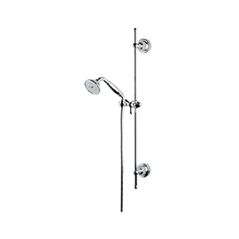 Complete shower set with hand shower, 150-cm. Flexible without wall union.