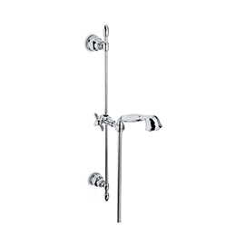 Complete shower set with hand shower, 150-cm. Flexible, without wall union.