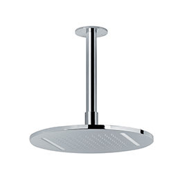 Stainless steel round ceiling-mounted rainfall head shower