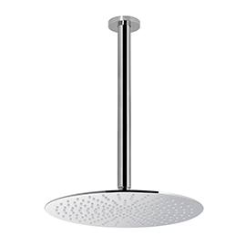Easy-inspection stainless steel round ceiling head shower with raining jet