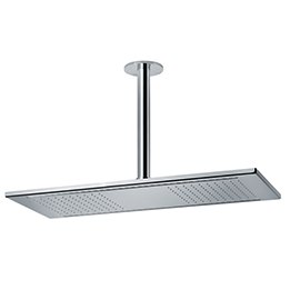 Stainless steel rectangular ceiling-mounted rainfall head shower