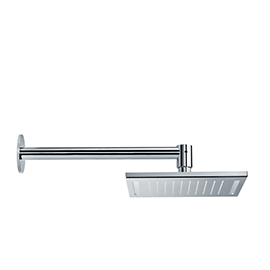 Stainless steel squared wall head shower